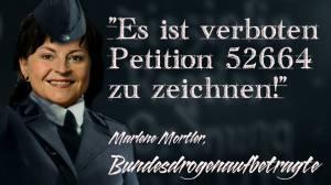 zákaz podepsat petici